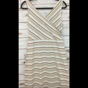 Amelia James Tank-  Beige & White Striped M Dress